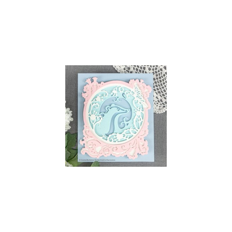 CREATIVE EXPRESSIONS PAPER CUTS BADGER AND THE BUTTERFLY CUTTING /& EMBOSS DIES