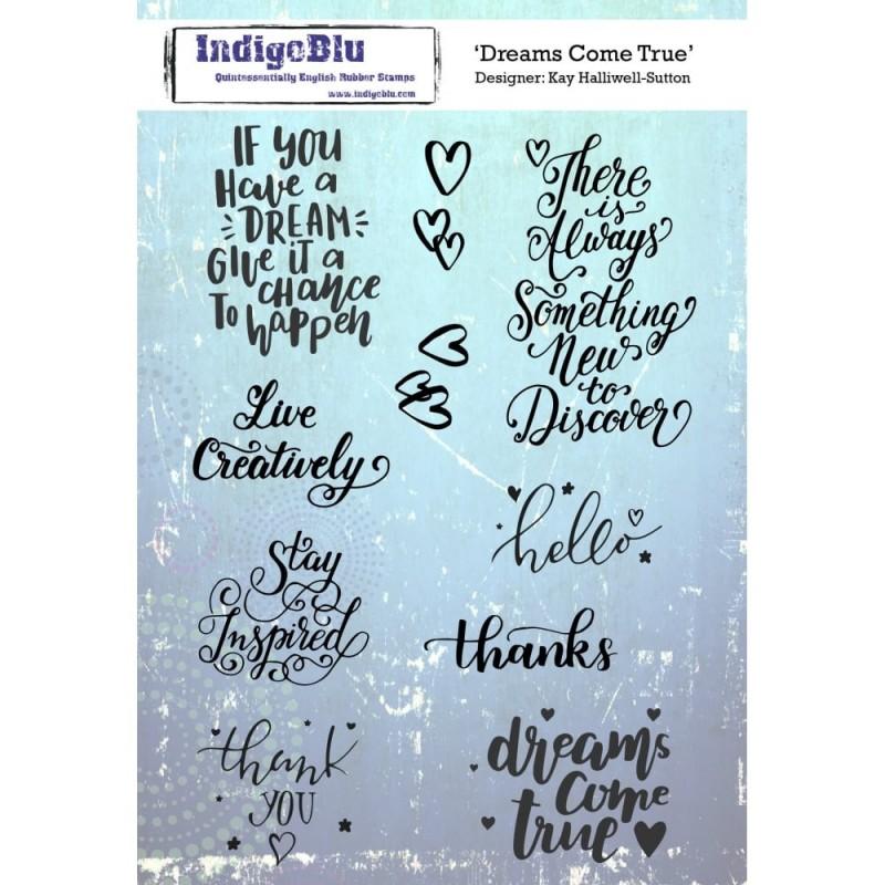 Indigoblu Dreams Come True Rubber Stamp