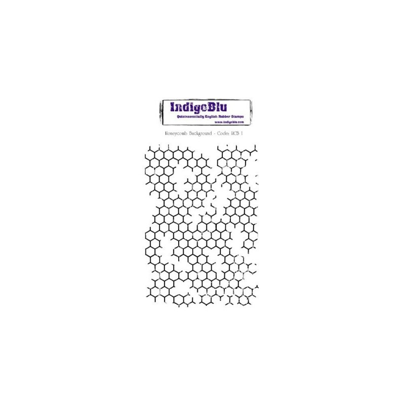 IndigoBlu Honeycomb Background Rubber Stamp