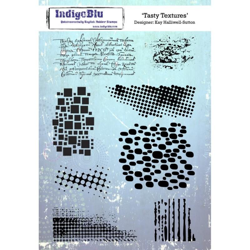 IndigoBlu Tasty Textures Rubber Stamp