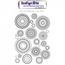 IndigoBlu Circle Dot Background Rubber Stamp