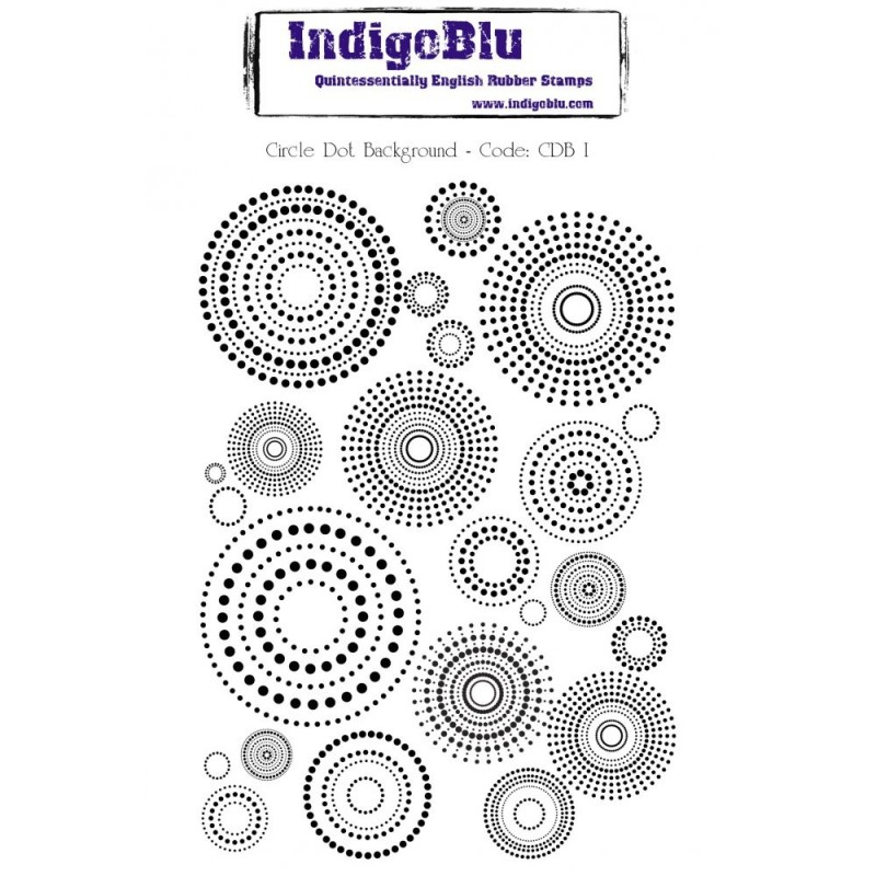 IndigoBlu Circle Dot Background Rubber Stamp