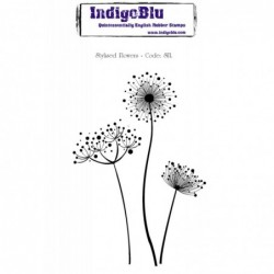 IndigoBlu Stylised Flowers Rubber Stamp